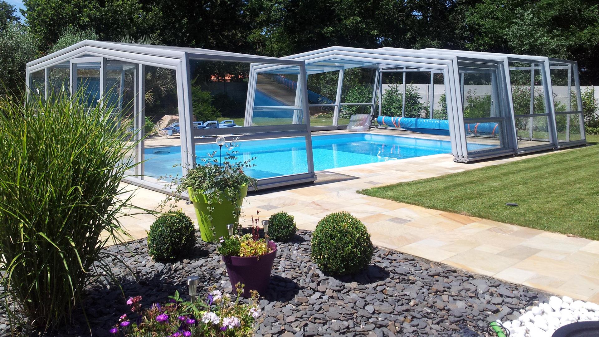 Ortbauer Pool Hochüberdachung